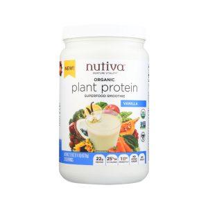 Plant protein vanilla smoothie